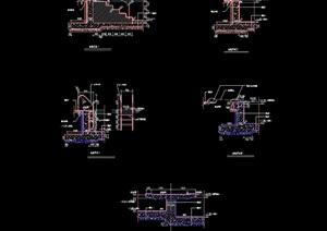 详细的泳池节点设计cad施工图