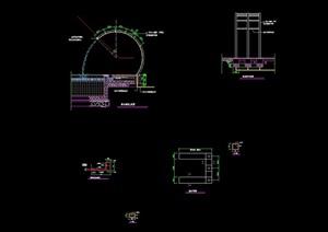 详细的喷泉水池设计cad施工图