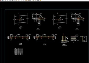 某详细的钢结构cad节点图全