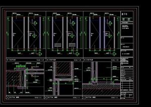 通用室内门素材设计cad节点图