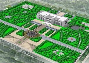 某现代风格详细广场景观绿化设计CAD方案