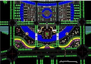 某现代风格详细的广场景观绿化设计CAD方案