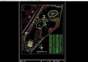 现代详细广场景观绿化设计CAD方案