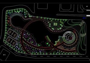 某现代广场景观绿化规划CAD方案