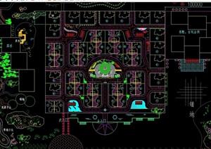 广场景观规划绿化设计CAD方案