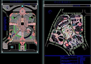 某现代详细中心广场景观绿化设计CAD方案