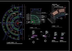 中心广场景观绿化设计CAD施工图