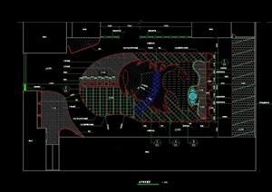 现代风格详细广场景观绿化设计CAD施工图