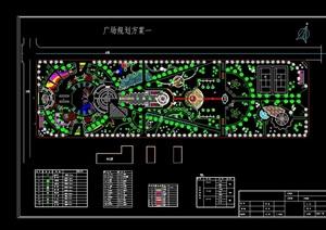 某现代广场景观绿化设计CAD方案