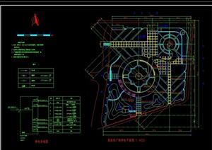 广场景观详细绿化设计CAD方案