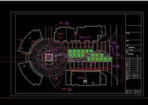两个广场景观绿化设计CAD方案