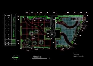 独特详细广场景观绿化设计CAD方案