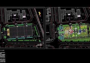 独特整体广场景观绿化设计CAD方案