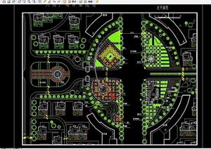 住宅小区中心广场景观绿化设计CAD方案