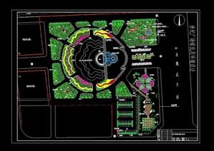 现代独特广场景观绿化设计CAD方案