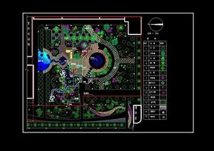广场独特详细景观绿化设计CAD方案
