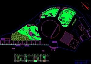 现代休闲广场景观绿化设计CAD方案