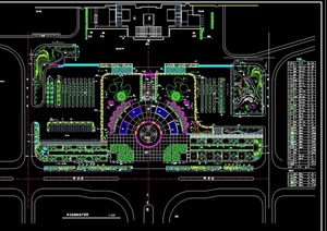 现代详细的整体广场景观绿化设计CAD方案