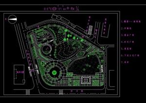 休闲小广场景观绿化设计CAD方案