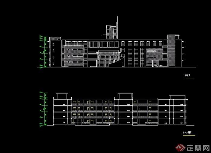 四层学校教学楼设计cad方案