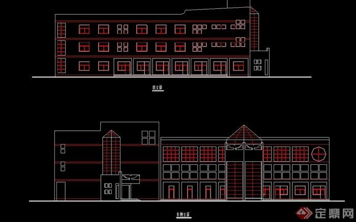 学校教学楼建筑设计cad方案