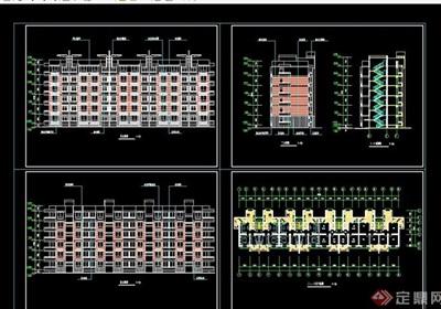 某现代研究生公寓建筑设计cad施工图