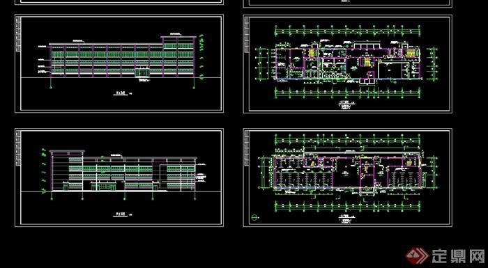 现代风格详细学校建筑楼设计cad施工图