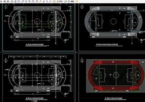 学校体育场建筑设计cad施工图