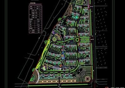 中新花园住宅小区规划设计cad方案(用地8.2公顷)