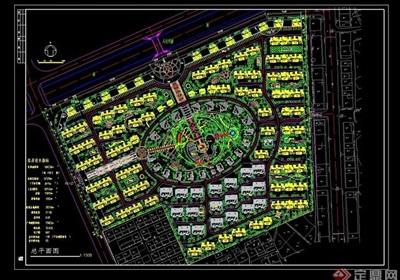 完整的小区规划cad总平面图