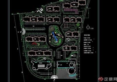 住宅小区规划cad方案图