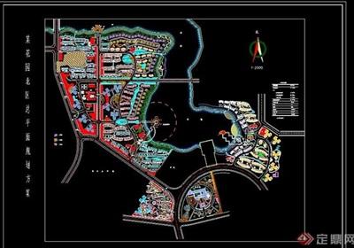 现代详细的住宅小区规划设计cad方案