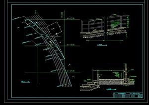 某节点详细的完整坡道设计cad施工图