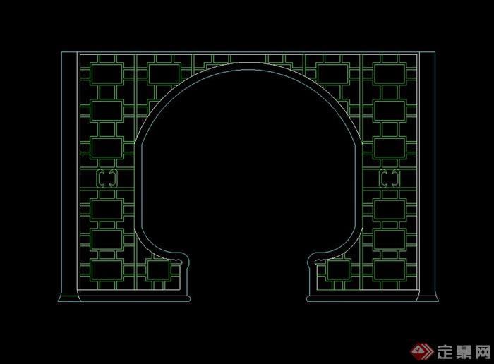 中式多个隔断墙设计cad方案