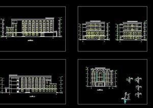 四层食堂全套建筑cad施工图
