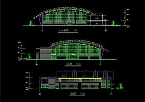 某学校体育馆建筑设计cad方案