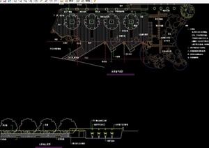 园林景观水景墙素材设计cad施工图