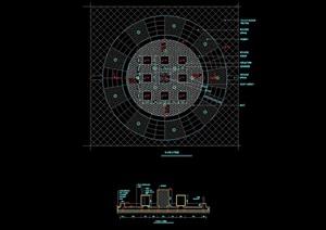中心平台详细完整设计cad施工图