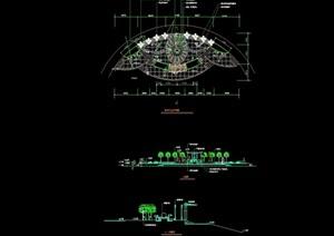 现代风格园林景观平台设计cad施工图