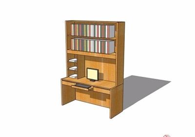 現代風格書桌柜詳細完整設計su模型