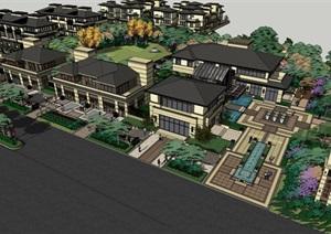 005小区整体建筑景观SU(草图大师)模型