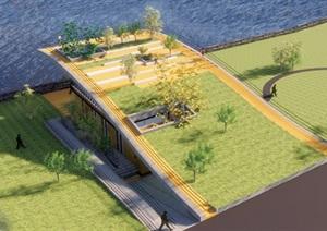 006五星级公共卫生间设计含SU(草图大师)模型