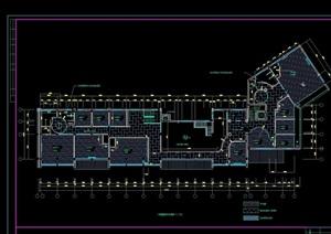 經典中式餐廳裝飾設計cad施工圖
