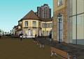 歐式風格詳細的住宅商業綜合樓設計su模型