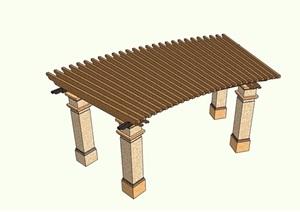 欧式景观休闲廊架设计SU(草图大师)模型