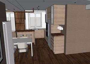 現代風格詳細的住宅室內裝飾設計SU(草圖大師)模型