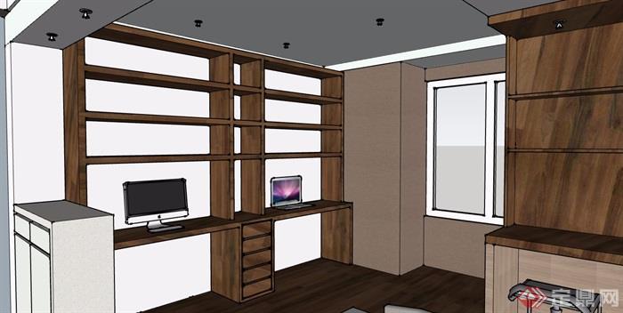 现代风格详细的住宅室内装饰设计su模型