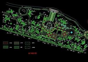 某现代休闲广场种植设计cad方案