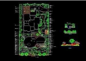 某别墅庭院种植详细设计cad方案
