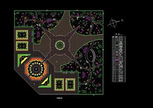 现代风格休闲广场种植设计cad方案